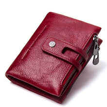 Load image into Gallery viewer, Leather Wallet Card Holder Coin Bag