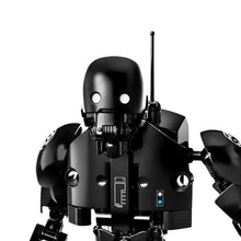 Load image into Gallery viewer, Creative Black Robot Building Blocks Toy