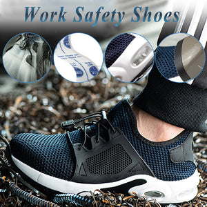 Men Toe Breathable Proof Lightweight Safety Work Shoes