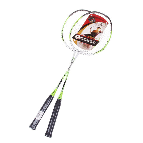 Aluminium Alloy Badminton Rackets With Wooden Handle - Zalaxy