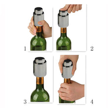 Load image into Gallery viewer, Stainless Steel Vacuum Sealed Wine Bottle Stopper