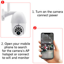 Load image into Gallery viewer, Wifi HD 1080P IP Camera 8 LEDS Infrared 6x Zoom Outdoor Camera
