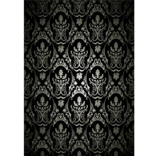 Load image into Gallery viewer, 1.5x2.1m Photography Retro Damask Cloth Studio Props Background Vinyl Black