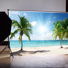 Load image into Gallery viewer,  Vinyl Background Cloth Photography Palm Beach Sunshine Studio Backdrop