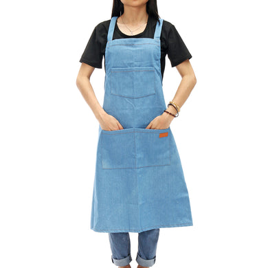 Adjustable Denim Canvas Apron with Convenient Pockets