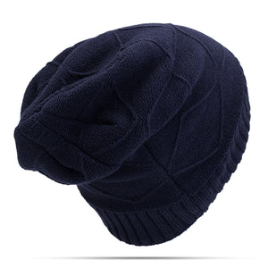 Thickened Velvet Liner Baggy Knitted Hat