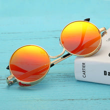 Load image into Gallery viewer, Women Punk Round Ladies Polarized Sunglasses