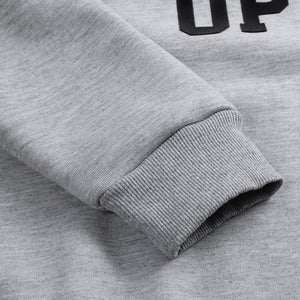 Men's Fashion Letter Printing Crew Neck Sweatshirt