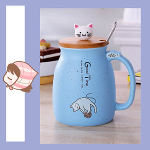 Cat Kitten Ceramic Coffee Mug