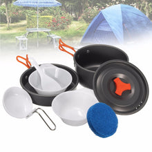 Load image into Gallery viewer, 8Pcs Camping Aluminum Pot Bowl Portable