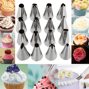 16 Pcs Set Russian Piping Tips Multi-shape Icing Nozzles