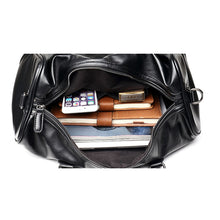 Load image into Gallery viewer, Leather Vintage Duffle Luggage
