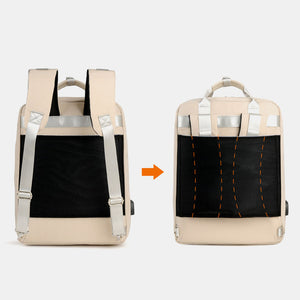 Casual Patchwork Backpack