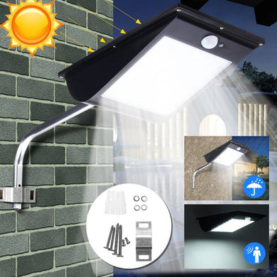 Solar Light Sensor Street Light Parking Porch Dim Wall Lamp White Light