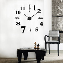 Load image into Gallery viewer, 3D Mirror Surface Large Number Wall Clock Sticker