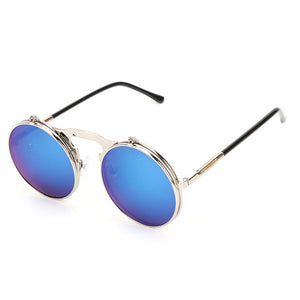 UV400 Metal Frame Flip Sunglass