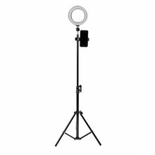 Load image into Gallery viewer, 16cm LED Video Ring Light 5500K Dimmable with 160cm Adjustable Light Stand for Youtube Tiktok Live Streaming