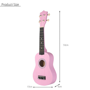 21 Inch Economic Soprano Ukulele Uke Musical Instrument With Gig bag Strings Tuner