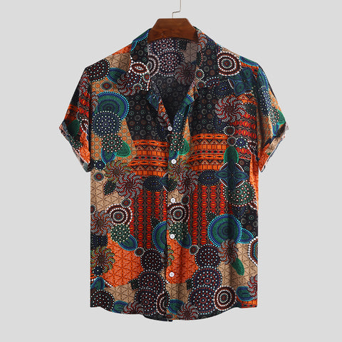 Ethnic Colorful Printed Casual Shirts