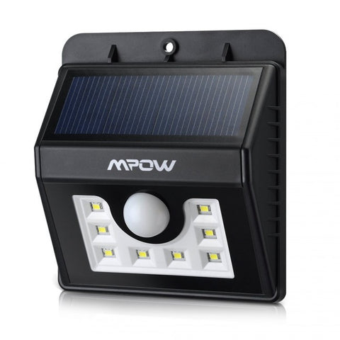 Mpow Super Bright 8 LED Solar Powered Wireless Security Light - Zalaxy