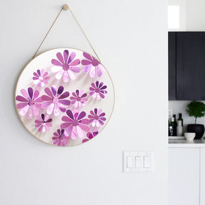 12 Pcs 3D Flower Wall Decal Vinyl Arts Removable Wall Stickers