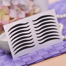 Load image into Gallery viewer,  8 Pairs Black Eyeliner Double Eyelid Sticker