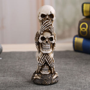Skull Car Ornament Gothic Dark Science Toy