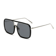 Load image into Gallery viewer, Mirror Square Large Frame Transparent Anti-UV Sunglasses
