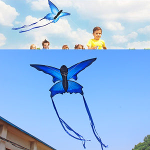70x150cm Blue Beautiful Butterfly Kite