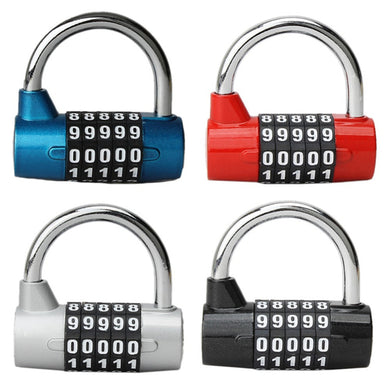 5 Digit Security Lock Travel Bag Luggage Padlock
