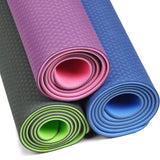 Non-slip 6mm Natural Rubber TPE Yoga Mat - Zalaxy