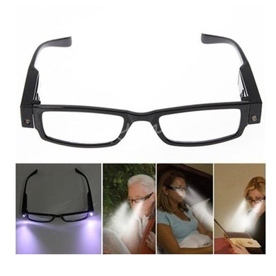 Rimmed Reading Glasses With LED Light