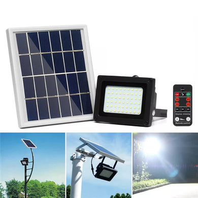 54 LED Solar Panel Flood Light Spotlight