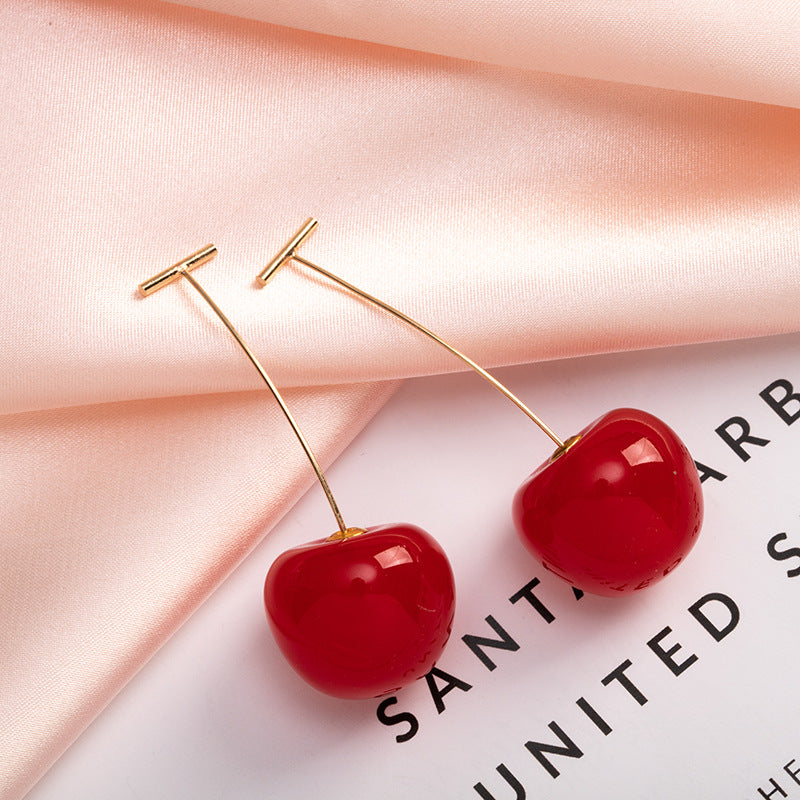 Red Cherry Sweet Resin Drop Earring
