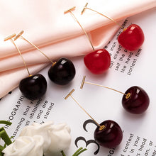 Load image into Gallery viewer, Red Cherry Sweet Resin Drop Earring