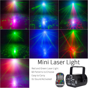 YSH DJ Disco Lighting Effect LED Party Lights Mini USB Laser Light Projector for Sale for Wedding Birthday