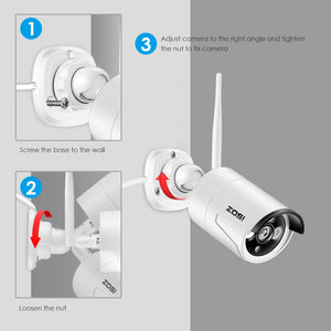 Wireless  Outdoor Weatherproof 4CH 1080P WiFi Security Camera 4PCS - Zalaxy