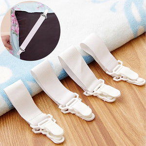 4x Bed Sheet Grippers Clip