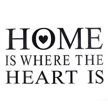 Load image into Gallery viewer, Home Is Where Heart Is Quote Wall Sticker
