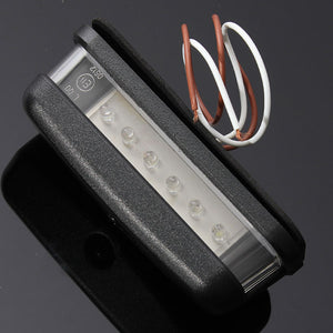 10-30V 6Led White License Number Plate Lights
