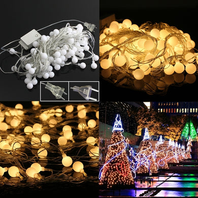 Warm White 100LED Ball Fairy String Light