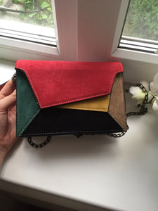 Retro Matte Patchwork Crossbody Bag
