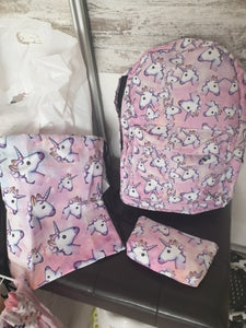 3PCS /set Women Printed Unicorn Backpack - Zalaxy