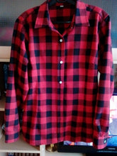 Load image into Gallery viewer, Cotton Checkered Plaid Blouses Shirt - Zalaxy
