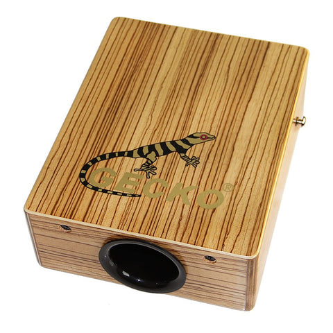 Traveling Cajon Hand Drum Zebra Wood with Strap ZA04 - Zalaxy