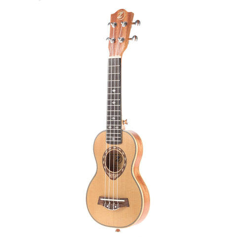"21"" Spruce Soprano Thin Body Ukulele ZA03 - Zalaxy"