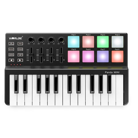Ultra-portable USB MIDI Keyboard Controller