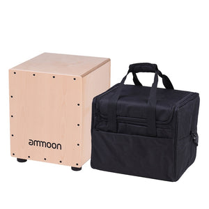 Medium Cajon Hand Drum Birch Wood with Carrying Bag - Zalaxy