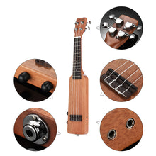 "Load image into Gallery viewer, 21"" Okoume Electric Soprano Ukulele Package ZA28 - Zalaxy"