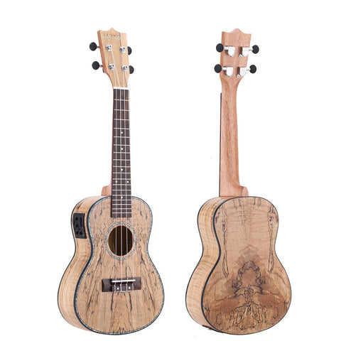 "24""Cowry Shell Pro Concert Ukulele with LED EQ ZA32"
